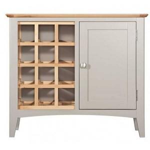 Alfriston Grey Painted Furniture Wine Cabinet