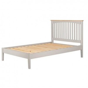 Alfriston Grey Painted Furniture King Size 5ft Bed With Low Foot end