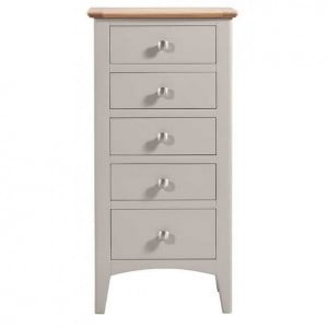 Alfriston Grey Painted Furniture Tall Chest of Drawers