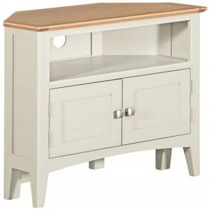 Alfriston White Painted Furniture Corner TV Unit