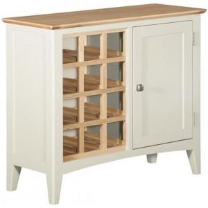 Alfriston White Painted Furniture Wine Cabinet