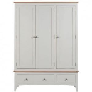 Alfriston White Painted Furniture Triple Wardrobe