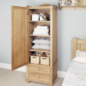 Amelie Oak Children's Furniture Single Wardrobe