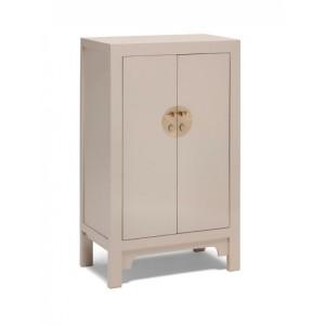 Nine Schools Oriental Furniture Qing Oyster Grey Medium Cabinet