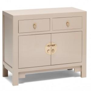 Nine Schools Oriental Furniture Qing Oyster Grey Medium Sideboard
