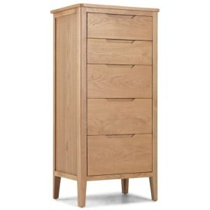 Abbey Oak Furniture 5 Drawer Tall Chest