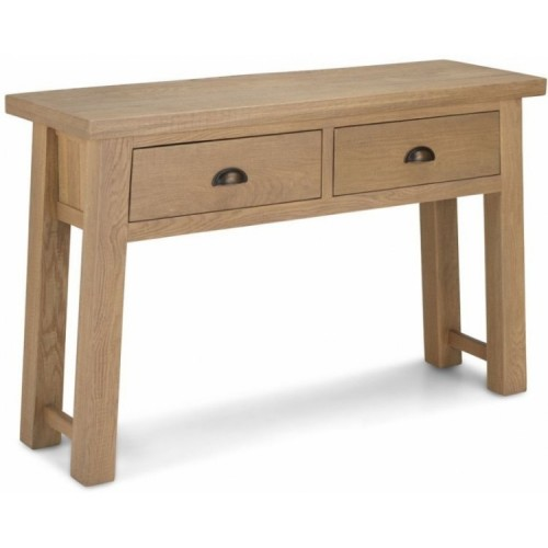 Alpha Oak Furniture 2 Drawer Console Table