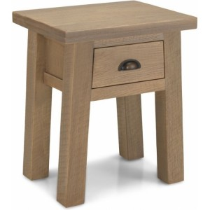 Alpha Oak Furniture Lamp Table With Drawer