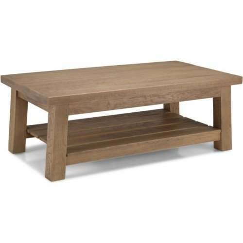 Alpha Oak Furniture Large Coffee Table with Shelf