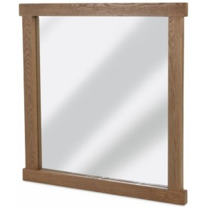 Alpha Oak Furniture Large Rectangular Wall Mirror