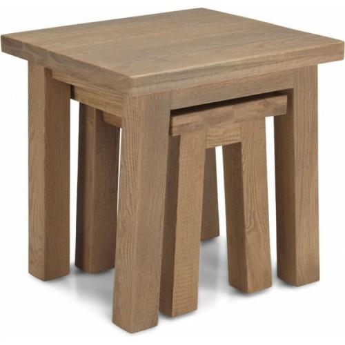 Alpha Oak Furniture Nest Of 2 Tables