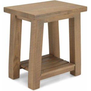 Alpha Oak Furniture Side Table