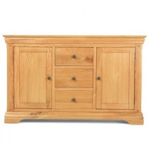 Beauly Oak Furniture 2 Door 3 Drawer Large Sideboard