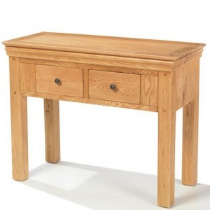 Beauly Oak Furniture 2 Drawer Console Table