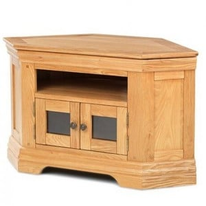 Beauly Oak Furniture Corner TV Media Video Cabinet
