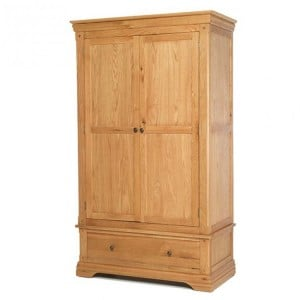 Beauly Oak Furniture Double Wardrobe with Drawer