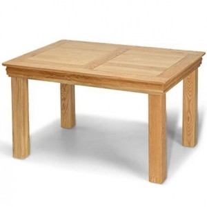 Beauly Oak Furniture Fixed Top Dining Table - 120cm