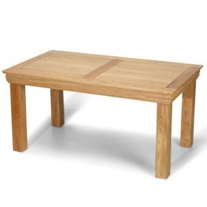Beauly Oak Furniture Fixed Top Dining Table - 160cm