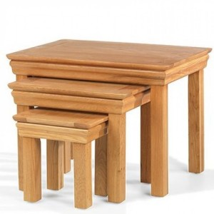 Beauly Oak Furniture Nest Of 3 Tables