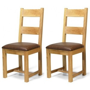Beauly Oak Furniture Pair of Dining Chairs