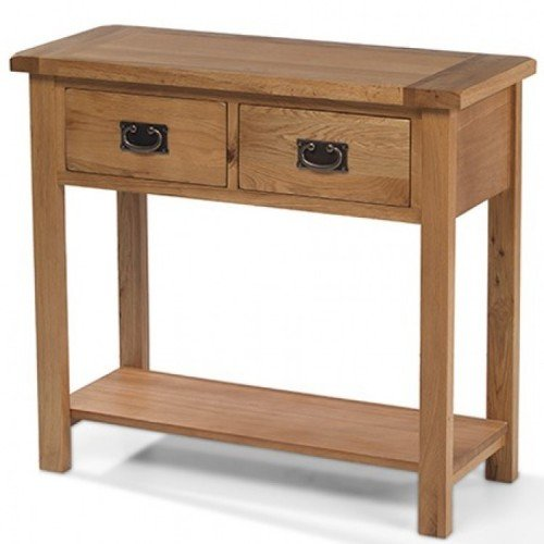 Coleshill Oak Furniture 2 Drawer Console Table