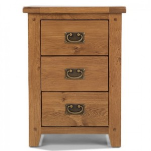Coleshill Oak Furniture 3 Drawer Bedside Cabinet