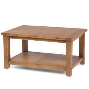 Coleshill Oak Furniture Coffee Table With Shelf