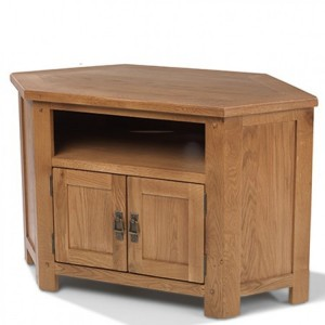 Coleshill Oak Furniture Corner TV Video Cabinet