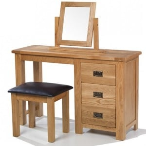 Coleshill Oak Furniture Dressing Table Set