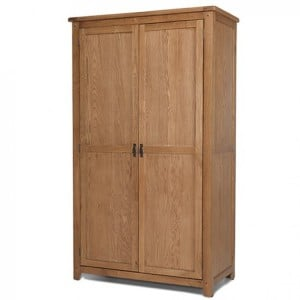 Coleshill Oak Furniture Full Hanging Double Wardrobe