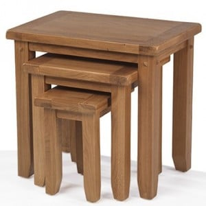 Coleshill Oak Furniture Nest of Three Tables