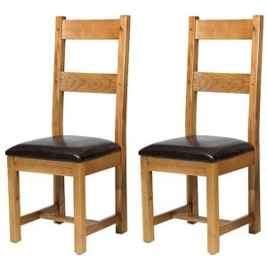 Coleshill Oak Furniture Pair of Dining Chairs