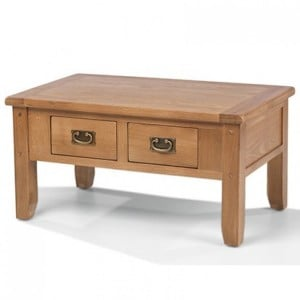 Coleshill Oak Furniture Small Coffee Table with 2 Drawers