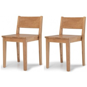 Greenwich Oak Furniture Pair of Dining Chairs