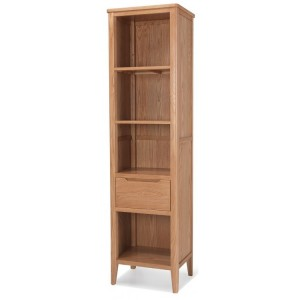 Greenwich Oak Furniture Slim Narrow Bookcase