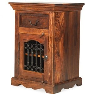 Kanpur Indian Sheesham Furniture Bedside Cabinet - Left
