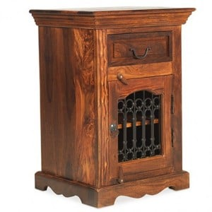 Kanpur Indian Sheesham Furniture Bedside Cabinet - Right