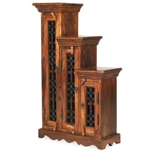 Kanpur Indian Sheesham Furniture CD Step - Small - Highest Step Left
