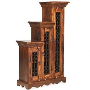 Kanpur Indian Sheesham Furniture CD Step - Small - Highest Step Right