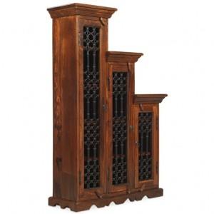 Kanpur Indian Sheesham Furniture CD Step Large Highest Step Left