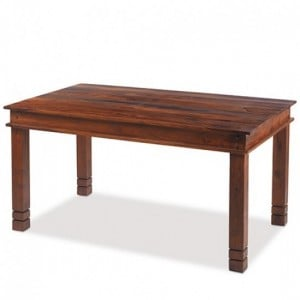 Kanpur Indian Sheesham Furniture Chunky Dining Table - 140 x 90