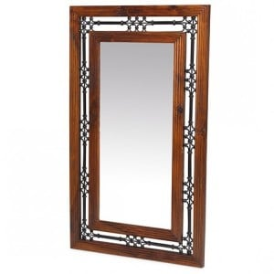 Kanpur Indian Sheesham Furniture Large Rectangular Wall Mirror