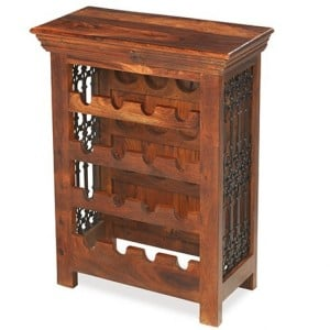 Kanpur Indian Sheesham Furniture Wine Bottle Rack