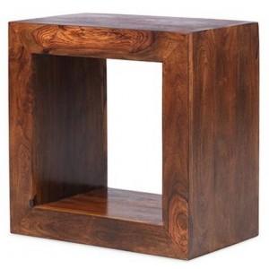 Mumbai Sheesham Indian Furniture 1 Hole Cube