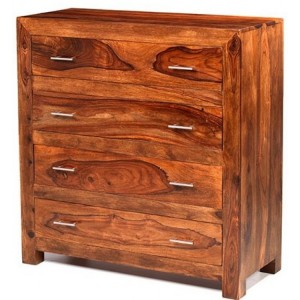Mumbai Sheesham Indian Furniture 4 Drawer Chest