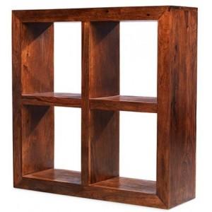Mumbai Sheesham Indian Furniture 4 Hole Display Cube