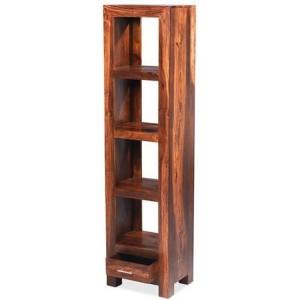 Mumbai Sheesham Indian Furniture Slim Jim Bookcase