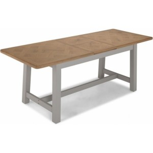 Summertown Painted Grey Furniture 160cm Extending Dining Table