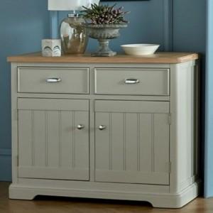 Summertown Painted Grey Furniture 2 Door 2 Drawer Sideboard
