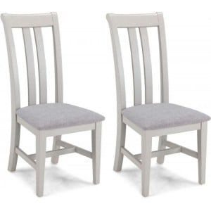 Summertown Painted Grey Furniture Dining Chair Pair